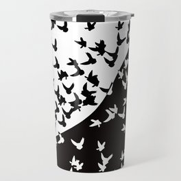 Flocks of birds. Allegory of day and night Travel Mug