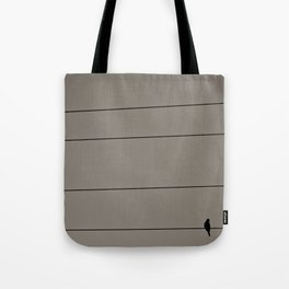 bird on cable Tote Bag