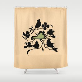 Virginia - State Papercut Print Shower Curtain