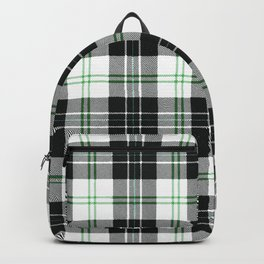 Rustic Plaid Pattern: Green Backpack