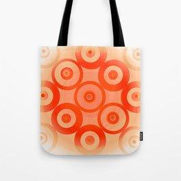 Circles Orange Tote Bag