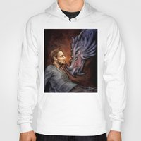 cyrilliart Hoodies featuring Dragon Series: Liam by Cyrilliart