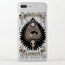 Planchette Clear iPhone Case