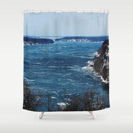 Endless Blue Shower Curtain