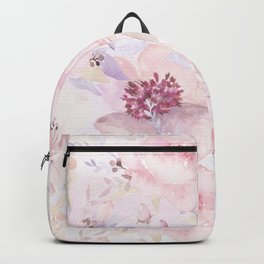 Pastel Summer Flower Watercolor Pattern Backpack