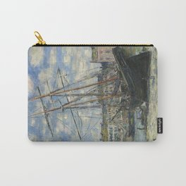Claude Monet - Boats Lying at Low Tide at Facamp Carry-All Pouch
