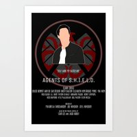 agents of shield Art Prints featuring Agents of S.H.I.E.L.D. - Ward by MacGuffin Designs