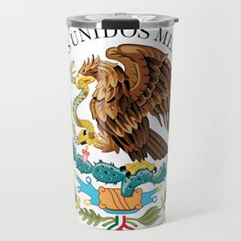 Coat of Arms & Seal of Mexico on white background Travel Mug