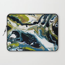 Abstract Flow Art - Expressions- We are all connected Laptop Sleeve