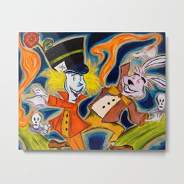 Mad Hatter and March Hare Metal Print