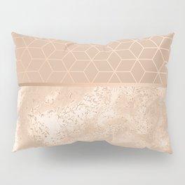 MARBLE HAZELNUT ROSEGOLD & HEXAGONAL Pillow Sham