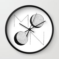 le petit prince Wall Clocks featuring PETIT-PRINCE MOON by StudioSotron