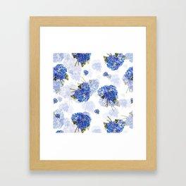 Cape Cod Hydrangea Nosegays Framed Art Print