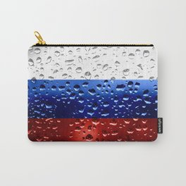 Flag of Russia - Raindrops Carry-All Pouch