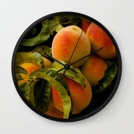 Peaches for me Wall Clock