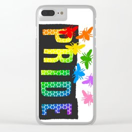Pride Bees Clear iPhone Case