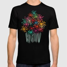 Flower Bouquet MEDIUM Mens Fitted Tee Black