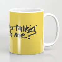 taxi driver Mugs featuring Taxi Driver by Dave Flanagan