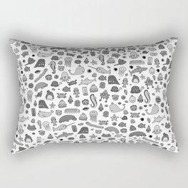 letter c - sea creatures Rectangular Pillow