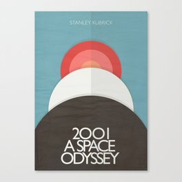 2001 a Space Odyssey - Stanley Kubrick, minimal movie poster, rétro film playbill, sci-fi Canvas Print