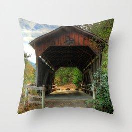 Lost Creek Covered Bridge Throw Pillow