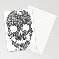 Panda is cool/skull Stationery Cards
