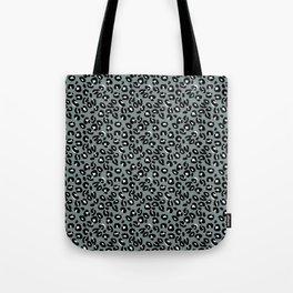 Grey and Black Leopard Spots Animal Print Pattern Tote Bag