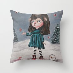 Harriette's Peppermint Wonderland Throw Pillow