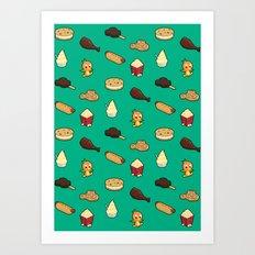 A Magic Kingdom of Snacks Art Print