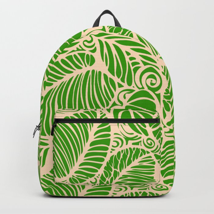 Summer Leaves Green Backpack