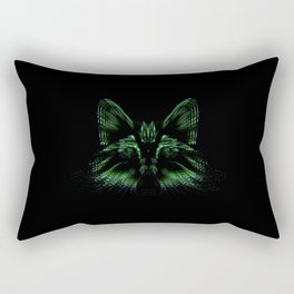 Space cat. cat's head flies out of space in the color spectrum. Rectangular Pillow