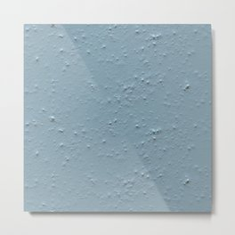 Blue Seamless Spray Plaster Texture Metal Print