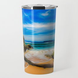 Singular Tropical Beach Travel Mug