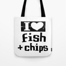 I Heart Fish and Chips - White Tote Bag