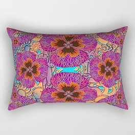 The Lost Pansy Flower Forest Rectangular Pillow