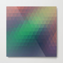 Low Polygon 1 Metal Print
