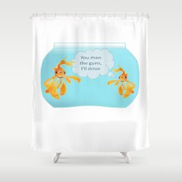 There Were Two Goldfish In A Tank Shower Curtain