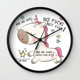 Unicorn Happily Ever After Wall Clock