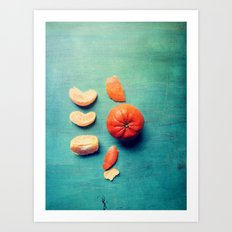 Orange Wedge Art Print