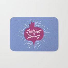 Beetroot to Yourself Bath Mat
