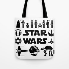 Star Characters Wars Tote Bag