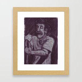 Dan Smith in charcoal Framed Art Print