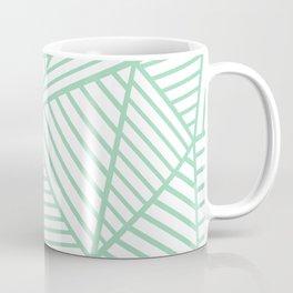 Abstract Lines Close Up Mint Coffee Mug