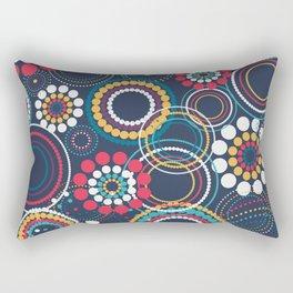 Flowers of Circles Rectangular Pillow