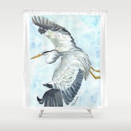 Soaring Heron Shower Curtain