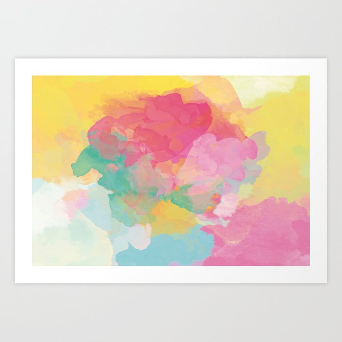 RAINBOW SPLATTER LAYERS Art Print