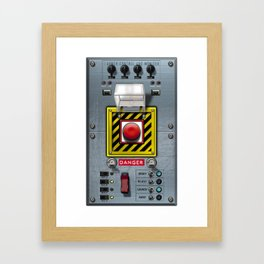 Launch console for nuclear missile Framed Art Print