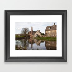 The old mill house Framed Art Print