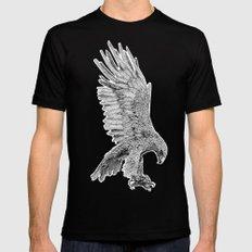 Eagle  Black Mens Fitted Tee MEDIUM