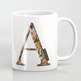 Floral monogram A - AMORE, LoLahStudio Coffee Mug